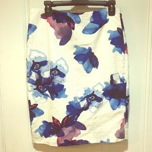 Banana Republic watercolor floral skirt - Size 6